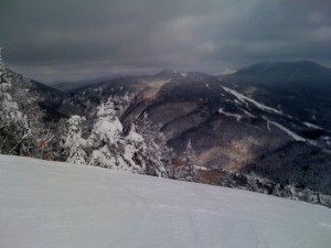 Smugglers Notch from Top of Hayride