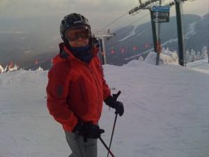 Meg at Top of Gondola