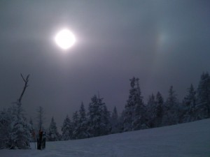 Sun through Snow Crystals from Top  of Lookout