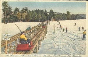 Early Post Card of the Skimobile