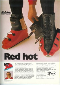 1968 Raichle Red Boot ad in SKIING Magazine