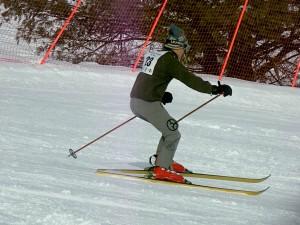 John Flynn in vintage 70's Bogner's at Antique Ski Race (2011)