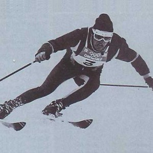 Jean Claude Killy with some old style goggles