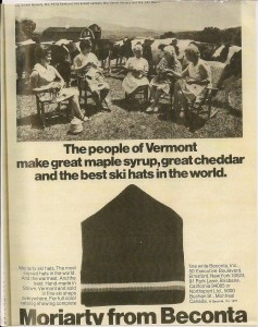 Moriarty Ad from 1972
