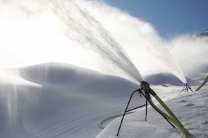 Snow gun in action
