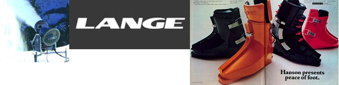Fan-type Snow Gun, Lange Logo, Hanson Boots