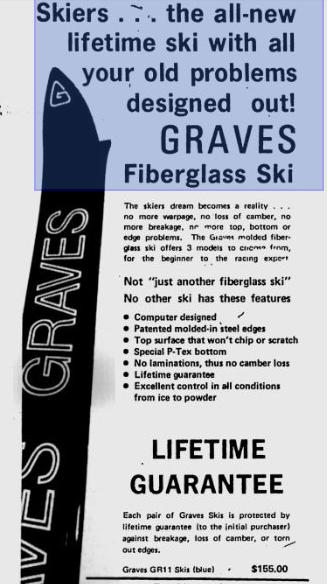 Ad for Graves Skis