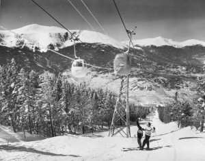Old Wildcat Gondola with Mt Washington in Background