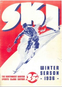 Cover of First Issue of SKI Magazine, January 1936