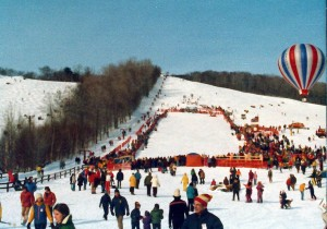 The scene at the Midas World Freestyle Championships Stowe 1975