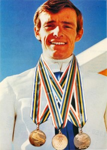 Jean Claude Killy with his three Gold Medals