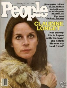 Claudine on the cover of People during the trial