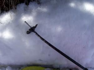 Bent Ski Pole