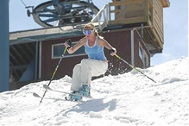 Spring Bump Skiing
