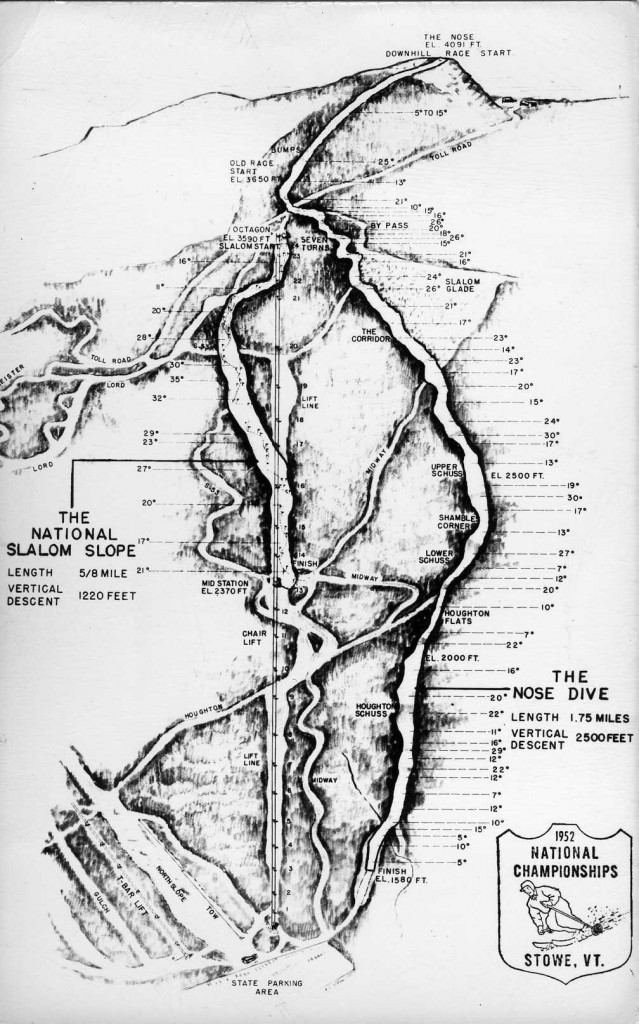 1952 National Championships Trail Map - Photo courtesy Greg Dirmaier