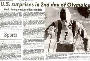Bill Koch Wins Siilver in 1976 Winter Olympics