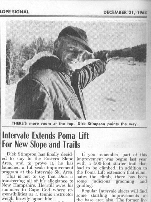 Intervale Ski Area expanded in 1963