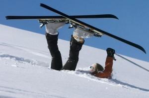 """Skier in a """"sitzmark"""""""