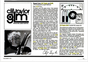 Clif Taylor and GLM Advertisement