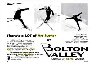 Art Furrer Bolton Valley Ad SKI Spring 1967