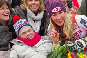 Mikaela Shiffrin Celebrating with her Nana!