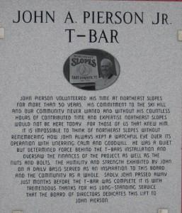 John Pierson Jr. T-Bar Dedication