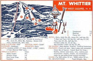 Mt Whittier Trail Map 1967-68