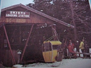 Mt Whittier Gondola Skier Loading Station