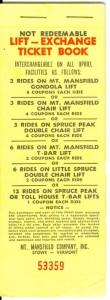 Mount Mansfield Lift-Exchange Ticket Book