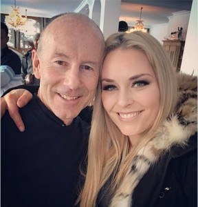 Stenmark with Lindsey Vonn