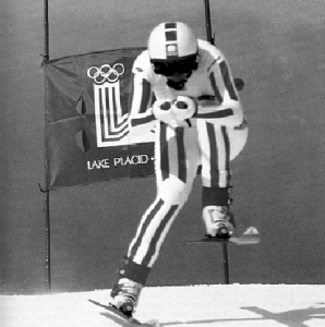 Annemarie Moser-Proell at the 1980 Olympics