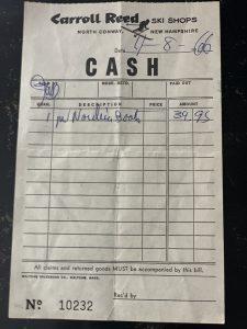 1966 Nordica Receipt